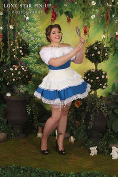 Pin-up Peasant Belle - Beauty and the Beast, plus sized