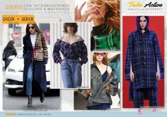 Discover the new Fall Winter 2018-19 DENIM Mega Trend Directions by 5forecaStore Fashion Trends forecasting: CHECKS REMIX, denim + checks.
