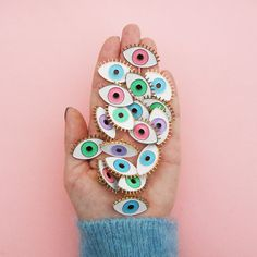 Evil Eye pins by CoucouSuzette