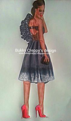 "Paper Fashion Sketches: -:Fashion fade, Style is eternal."" -Yves Saint Lau..."
