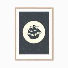 PETER PAN Set Of FourPoster : Captain Hook by SealDesignStudio