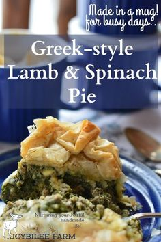 This Greek-style lamb and spinach pie is one of my favorite dishes.  It's like a cross between spanakopita and a gyro. (Just typing that makes me want some.)  The crispy, golden filo pastry, the warm, salty lamb and feta cheese, and the creaminess of the filling is the best thing the ever came out of a home oven. #Sponsored