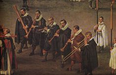 22 Trombone Paintings from the Century Low Countries - Will Kimball Renaissance Music, Renaissance Paintings, Basson, Early Music, Disco Fashion, Trombone, Clarinet, Teaching Music, Music Lessons