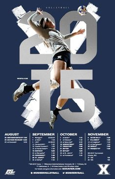 Top-30 NCAA Volleyball Schedule Posters.