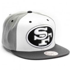 Mitchell and Ness San Francisco 49ers 2 Tone Snapback Hat Cap (Grey)