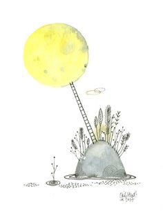 ilot de lune, Cécile Hudrisier