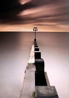 Landscape sea barge