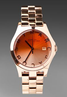 MARC by Marc Jacobs Henry Color Crystal Watch in Rosegold