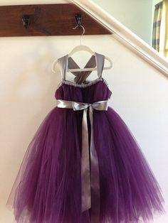 Flower Girl?? Eggplant Rich Satin Short Pick Up Girl Dress with ...