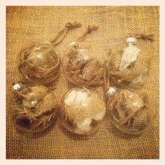 Six Rustic Christmas Ornaments by TheRustique on Etsy, $14.00