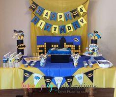 Resultado de imagen para baby batman birthday party ideas