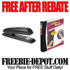 FREE AFTER REBATE - Staplers & Binders - exp 3/23/13