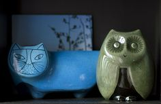 The Baldelli Owl and the Pussycat  money bank Pinned by www.myowlbarn.com