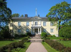 Herttoniemi Manor (in Finnish: Herttoniemen kartano) in Helsinki, Finland. The history of the Manor starts probably at the 1400's, when Laurens Hertoghe had a country house in Herttoniemi. The present main building of the manor was renovated in 1815 of an old porcelain factory. The style of the garden combines baroque and English garden.