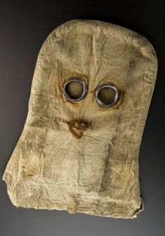 British gas mask, 1915. Spooky or what! It's not known if grandfather had to use one in the trenches.