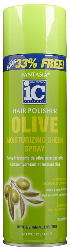 """Olive and vitamin """"E"""" enriched. 100% effective on all hair types. Nourishes, hydrates and shines!  Dry, frizzy, chemically damaged hair will be hydrated with maximum moisture Conditions, nourishes, repairs and smoothes hair for easy manageability Alcohol free No oily or greasy buildup Great hair control and manageability"""