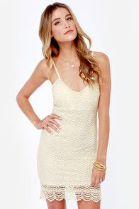 Crocheted For You Cream Lace Dress