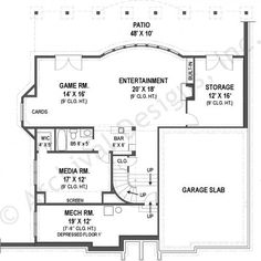Villa Royale House Plan - Basement Floor Plan