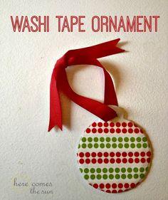 Washi Tape Ornament