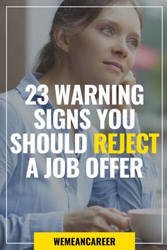 Just received a job offer? Just because you are the selected person, that doesn't mean you should take it. Discover good reasons to turn down a job offer. Career Change, New Career, Career Advice, New Job, Effective Communication, Communication Skills, Leadership Traits, Read Sign, Work Goals