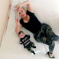 #Twinsies! Coco Austin and Baby Chanel Wear Adorable MatchingOutfits