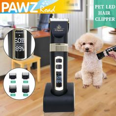 Description: This tool is specially designed for your dog and cat. It's the newest and fastest way to cut off your pet's hair! This product is quiet, low noise, it won't scare your lovely pets. Now you can painlessly and easily trim your pet's hair anywhere without the pain caused by traditional pet clippers. Features: 100% Brand new and high quality Color :Black Material:High quality ABS material Efficiently clip and trim pet hair, reducing the risk of hurting pets Appropriate for most… Dog Grooming Clippers, Grooming Kit, Pet Dogs, Dog Cat, Pets, Cat Hair, Cat Supplies, Poodle