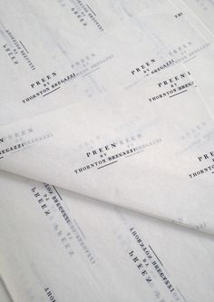 Preen branded tissue paper by…