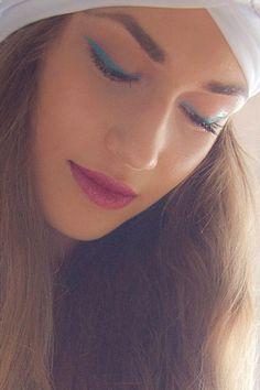 Eye got the blues Blue eyeliner Make up by Panos Kallitsis