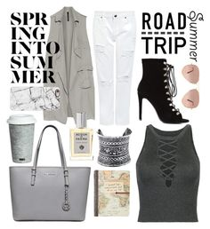 """Airport outfit: it seems I'm really into gray "" by teodorapetre on Polyvore featuring Fitz and Floyd, LULUS, Edit, Ray-Ban, W118 by Walter Baker, Casetify, Acqua di Parma and roadtrip"