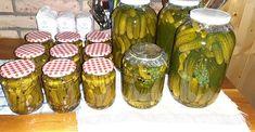 Csemegeuborka bonduelle módra, nekünk nagyon ízlik és nem is nehéz elkészíteni! Larder, Mason Jars, Cooking Recipes, Drinks, Cilantro, Drinking, Beverages, Canning Jars
