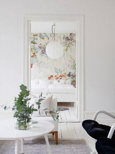 Feminine Scandinavian apartment.