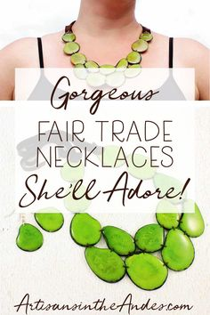 Illuminate your day with this lovely handmade lime green bib necklace and earrings set for women. We work directly with the artisan to create this luscious beaded beauty - on a fair trade basis. Vegan Fashion, Ethical Fashion, Green Statement Necklace, Handmade Accessories, Handmade Jewellery, Handmade Gifts, Etsy Jewelry, Fair Trade, Earring Set