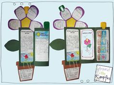 Life Cycle of Plants flower foldable