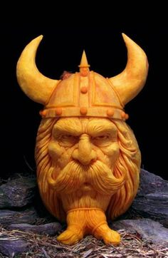 Carved from a pumpkin