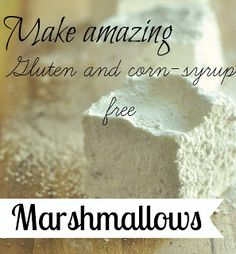 Make amazing corn syrup free marshmallows for the perfect end of summer s'mores.... - Jennifer Rizzo Marshmallow Recipe No Corn Syrup, Recipes With Marshmallows, Homemade Marshmallows, Foods With Gluten, Gluten Free Desserts, Dairy Free Recipes, Paleo Sweets, Homemade Ranch Dressing, Bacon Appetizers