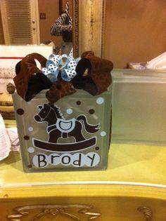 Decorative Glass Blocks for Baby nightlight by KayKaysCrafts, $25.00