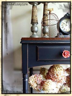 {createinspire}: The Knob Painted Bedroom Furniture, Painted Furniture, Furniture Makeover Diy, Black Painted Furniture, Furniture, Painted Chairs, Black Furniture, Painted Furniture Colors, Black Chalk Paint Furniture