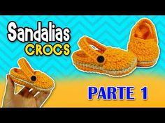Sandalias tipo CROCS tejidas a crochet o ganchillo PASO A PASO | parte 1/2 - YouTube
