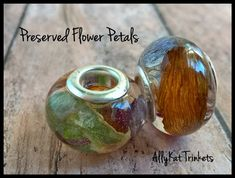 Custom Preserved Flowers European Style Bead using YOUR OWN