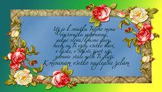 Už je k sviatku Tvojho mena vinšovačka pripravená, pekné slová, krásne dary, nech sa Ti vždy všetko darí, v láske, v šťastí život uži, zdravie stále nech Ti slúži. K meninám všetko najlepšie želám