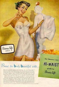 1950's Perm-Lift Girdle - Vintage Lingerie Advertising - CollectorsQuest.com