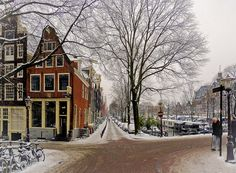 Wintry Prinsengracht in Amsterdam. Amsterdam Today, Amsterdam Winter, Amsterdam Travel, City Limits, The Province, Cold Day, Winter Time, Holland, Dutch
