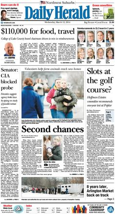 Daily Herald front page, March 12, 2014; http://eedition.dailyherald.com/