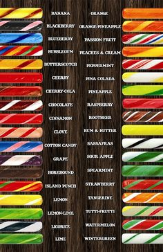 Old Fashioned Candy Sticks..they had the best flavors!  My Aunt Helen would bring these to my boys as a gag because they got so sticky. ;)