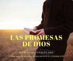 Porque todas las promesas de Dios son en Él Sí. 2 Corintios 1:20  Nunca olvidaré el día en que un amigo rompió su promesa. Confiaba en que guardaría mi secreto debido a nuestra amistad; pero, ¡me traicionó antes de que terminara el día!...LEER MÁS http://www.devocionalescristianos.org/2018/01/porque-todas-promesas-dios-son-el-si-2-corintios-1-20.html