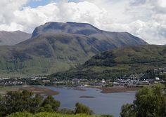 Ben Nevis...the highest point in Scotland. It overlooks Fort William and Loch Linnhe. :) West Highlands Scotland