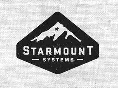 Vintage Graphic Design Starmount Systems, Mountain, Black, Logo, Star - View on Dribbble Berg Logos, Typography Design, Logo Design, Typographie Logo, Mountain Logos, Badge Logo, Packaging, Cool Logo, Graphic Design Inspiration