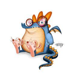 Little Monsters by Alicja Gapinska, via Behance