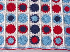 Sarita creative: Make it // Crochet Cotton Baby Blanket (circle in square)
