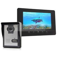 DIYSECUR 7inch Video Intercom Video Door Phone Doorbell 1 Camera 1 Monitor for Home / Office Security System Black #homesecuritysystemphones